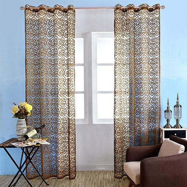 1Pcs Jacquard Home Decor Voile Shading Curtain