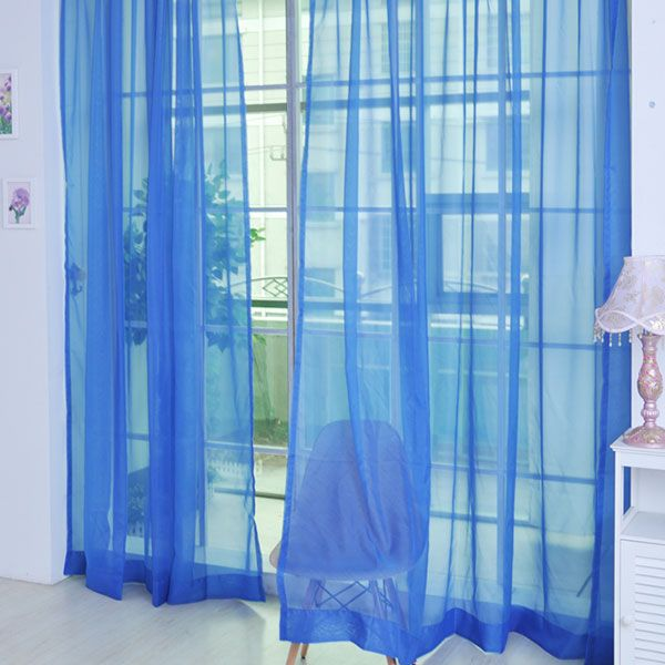 Sheer Window Tulle Fabric Curtain For Living Room