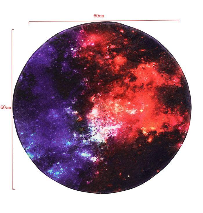 Round Star Sky Skid Resistance Caroset Rug