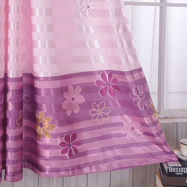 Shading Floral Print Window Blackout Curtain For Bedroom