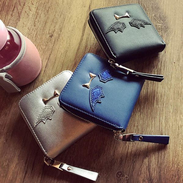 Metal Detail Zip Around Small Wallet