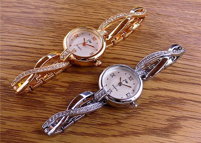 JW Alloy Strap Rhinestone Bracelet Watch