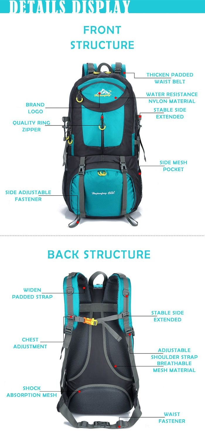 Waterproof 60L Mountaineering Backpack