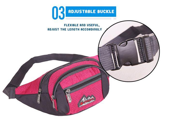 Sports Multifunctional Nylon Waist Bag