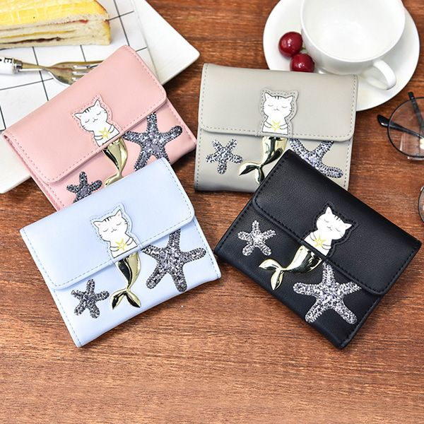 Sequied Starfish Tri Fold Small Wallet