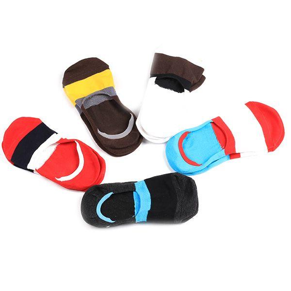 Color Block Antiskid Loafer Liner Sperry Socks