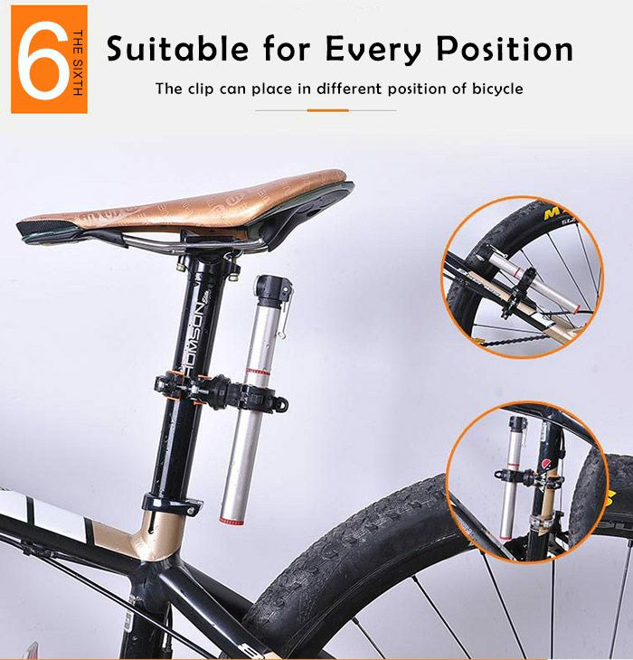 360 Degree Ratation Multifunction Bicycle Lamp Clip
