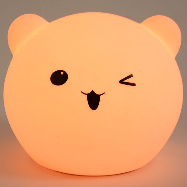 Bear Shaped Color Changing LED Touch Night Light