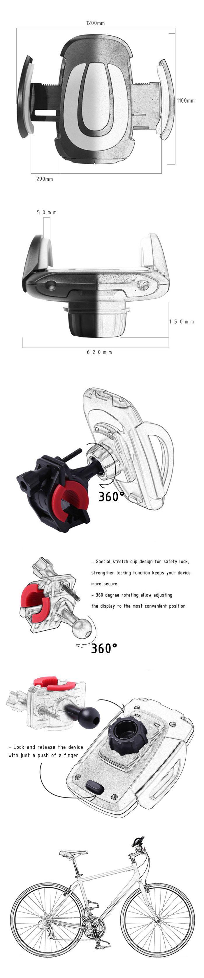 Adjustable 360 Degree Rotation Mobile Phone Mount Holder Stand