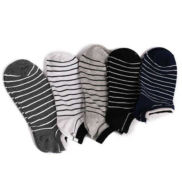 Pinstripe Patterned Elastic Knitting Ankle Socks