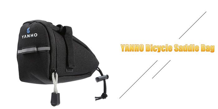 Water Resistant Bicycle Saddle Bag with Reflective Strap