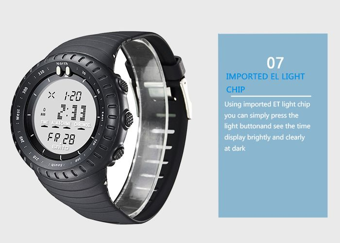 GIMTO Silicone Luminous Digital Sports Watch