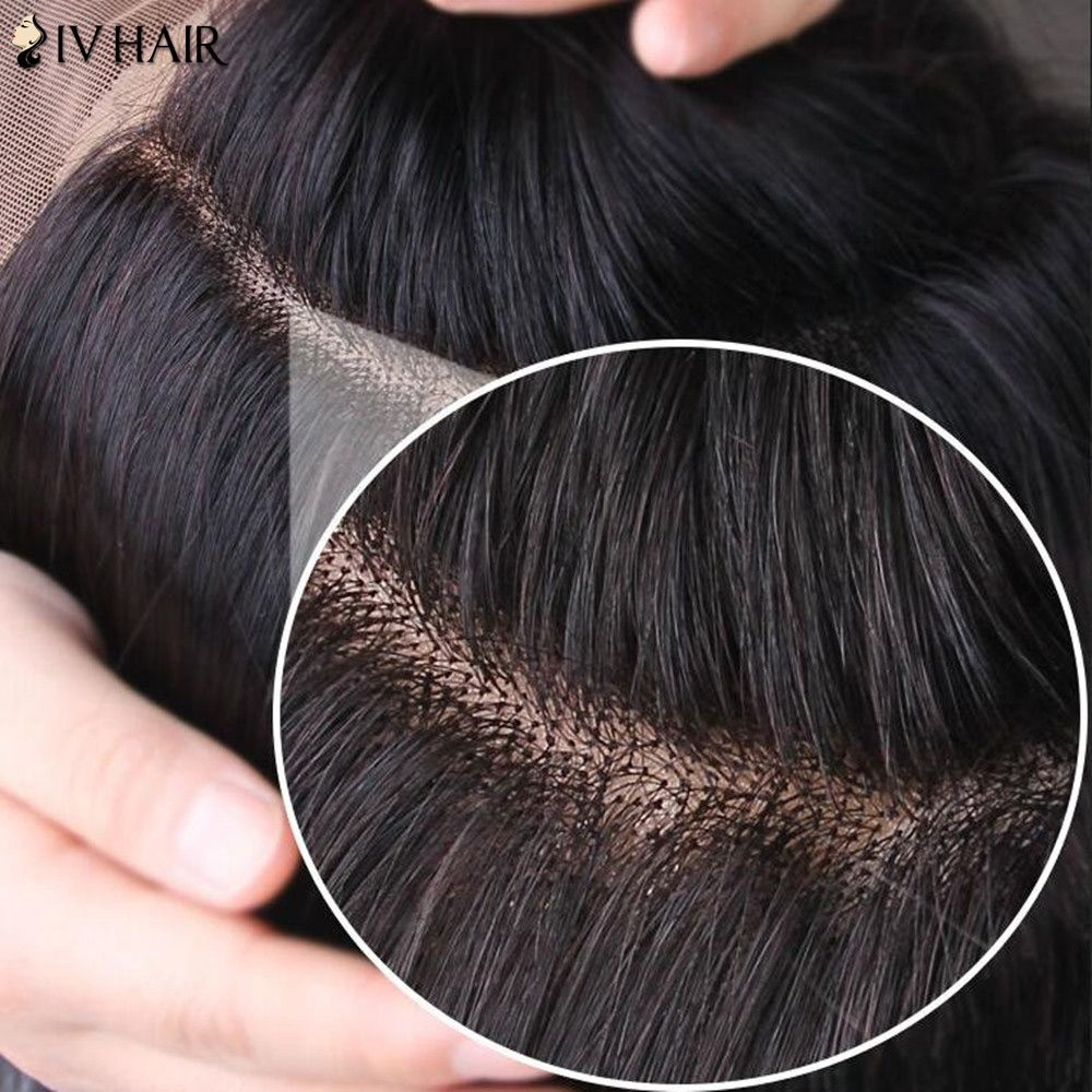 Siv Hair Long Deep Wave Shaggy Lace Frontal Human Hair Wig