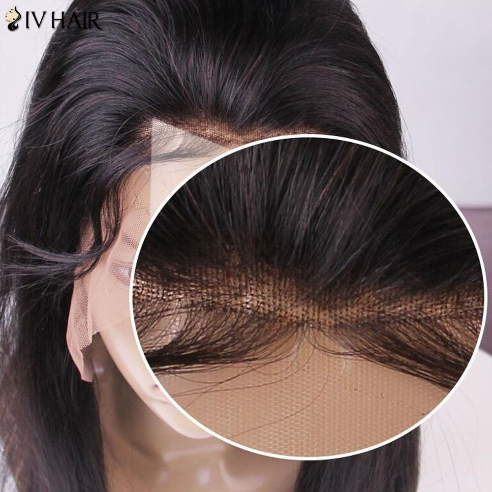 Siv Hair Long Deep Wave Shaggy Lace Frontal Human Hair Wig