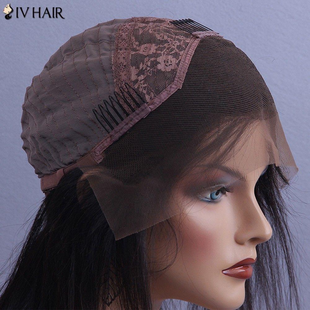 Siv Hair Long Deep Wave Lace Front Human Hair Wig