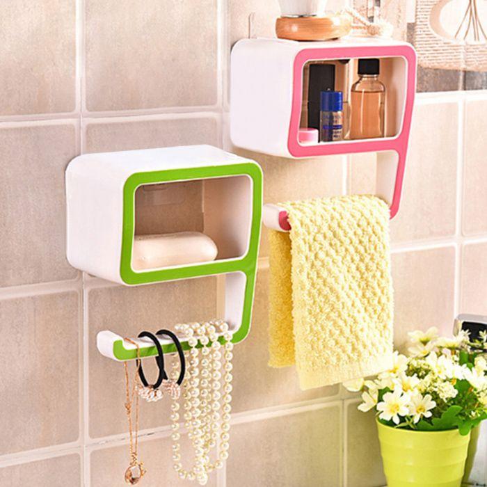 Creative Number Shape Bathroom Wall Shelf