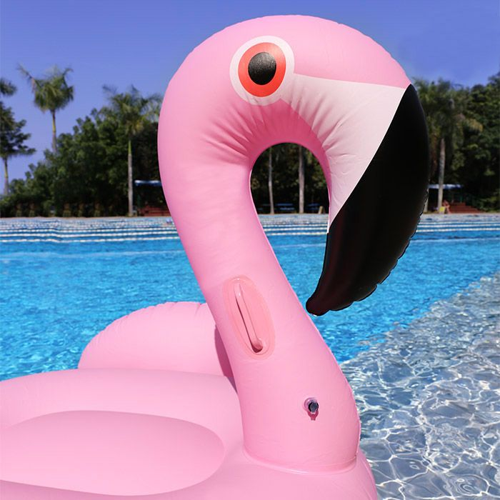Inflatable PVC Flamingo Shape Floating Row