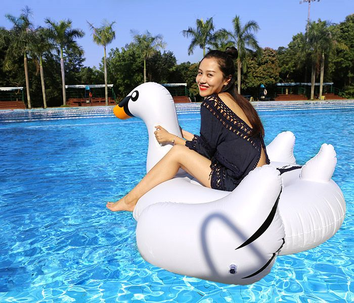 Inflatable PVC Swan Shape Floating Row