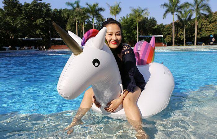 Inflatable PVC Unicorn Shape Floating Row