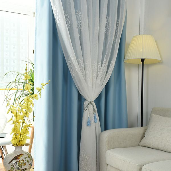 1Pcs 2 Layers Princess Curtain Window Decor