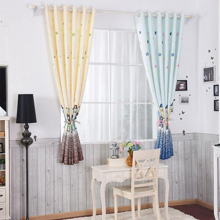 Star Tower Print Window Curtain