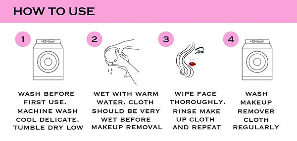 2 Pcs Microfiber Makeup Remover Towel
