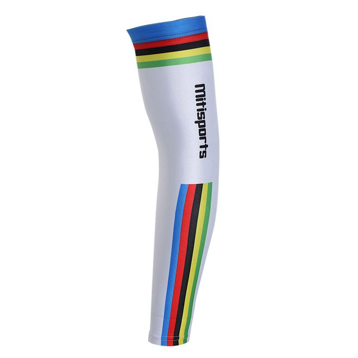 Striped Lettern Pattern Cycling Arm Sleeves