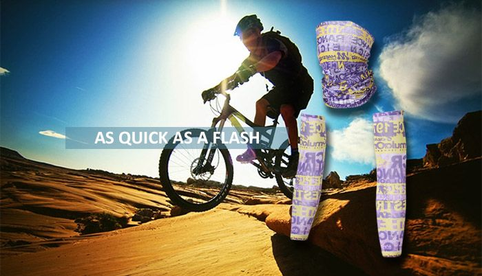 Quick Dry Graphic Cycling Mask and Arm Sleeves