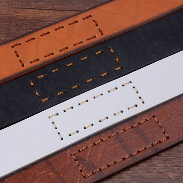 Letters Hot Stamping Faux Leather Belt