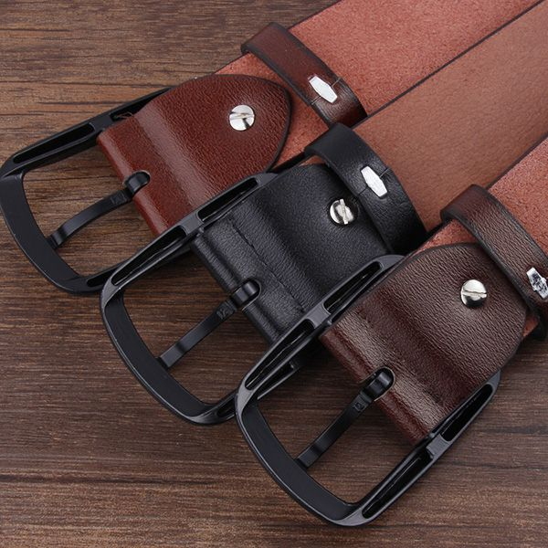 Rectangular Pin Buckle Faux Leather Belt