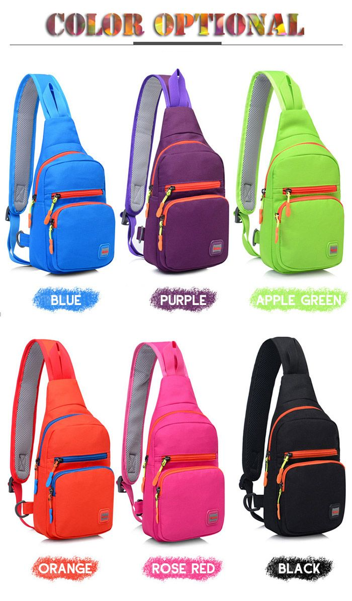 Waterproof Nylon Multi Pockets Chest Bag