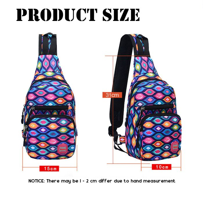 Waterproof Graphic Print Chest Bag
