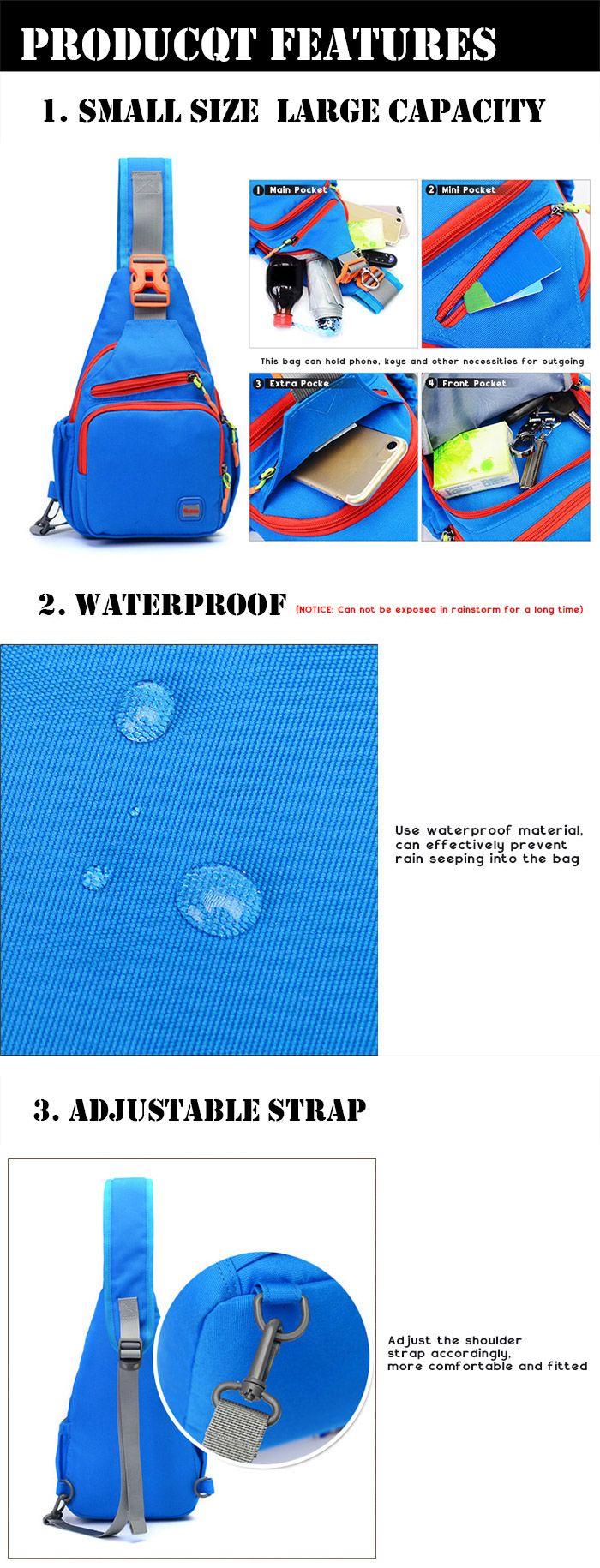 Outdoor Waterproof Multipurpose Chest Bag