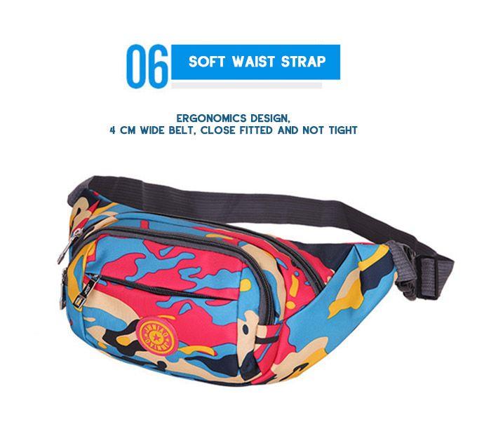 Outdoor Camouflage Waterproof Waist Bag