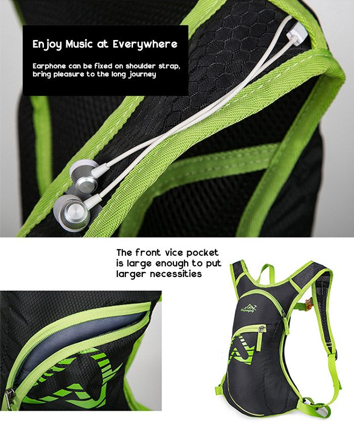 Outdoor Nylon Waterproof Arrow Pattern Backpack
