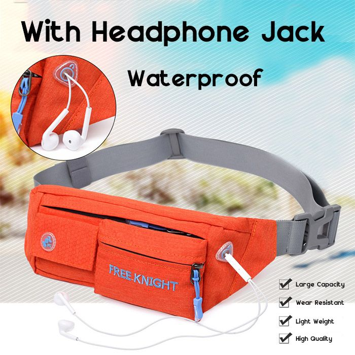 Freeknight Headphone Jack Waterproof Waist Bag
