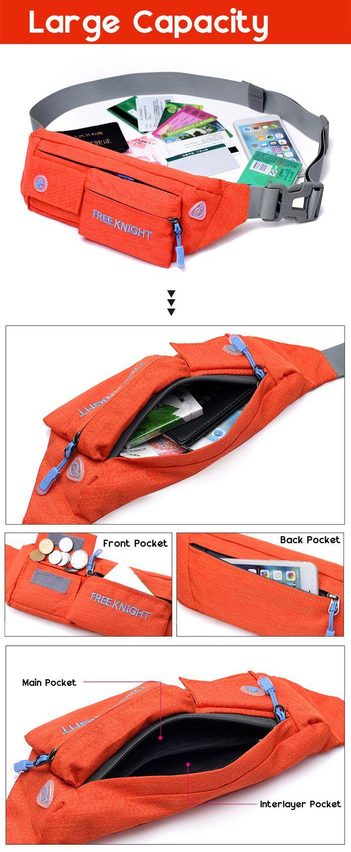 Freeknight Headphone Jack Waterproof Waist Bag