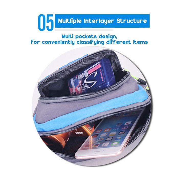 Outdoor Multipocket Waterproof Nylon Waist Bag
