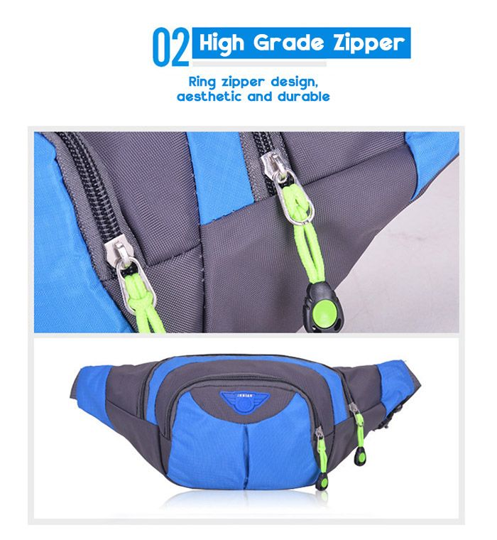 Outdoor Multipocket Waterproof Nylon Waist Bag