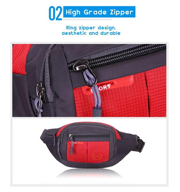 Outdoor Plaid Nylon Waterproof Waist Bag