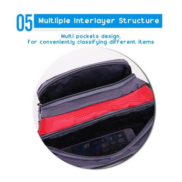 Outdoor Plaid Nylon Waterproof Waist Bag