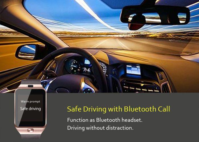 DZ09 Bluetooth Smart Watch with Pedometer Camera Single SIM