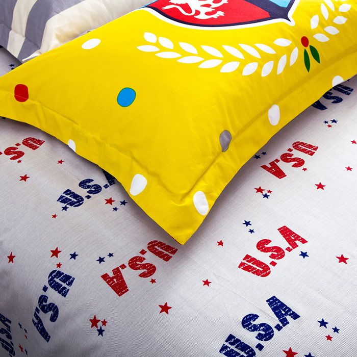 Queen Size 4Pcs Super Soft Full Cotton Graphic Bedding Sets