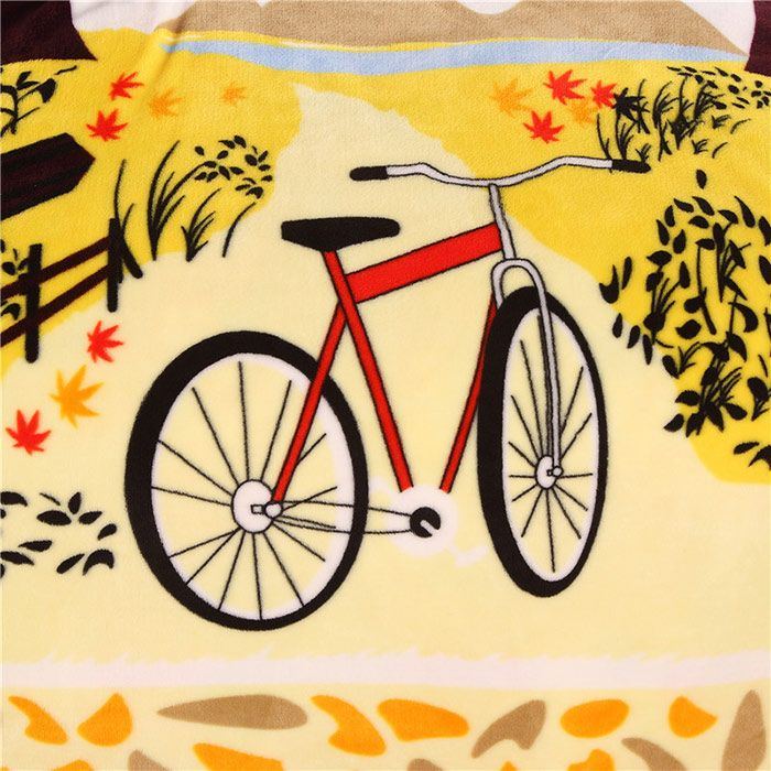 Maple Bicycle Print Super Soft Comfortable Bedding Throw Blanket