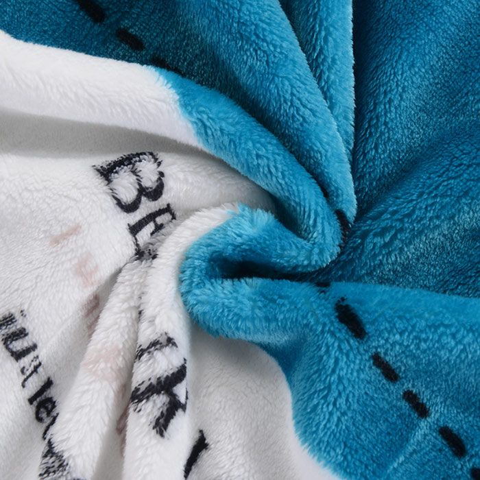 VIP Life Mushroom Words Print Super Soft Throw Blanket