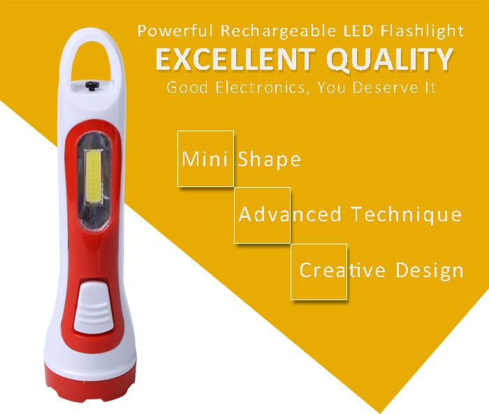 Portable Multifunctional Rechargeable LED Flashlight