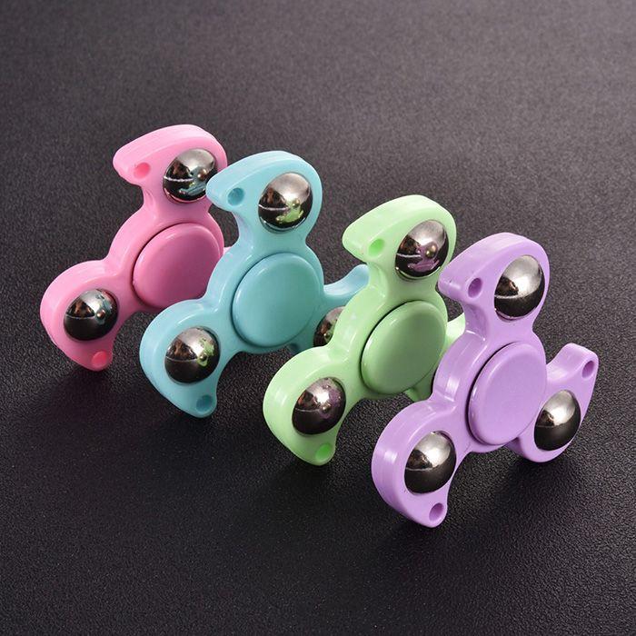 Plastic Finger Gyro Stress Relief Toy Steel Ball Fidget Spinner
