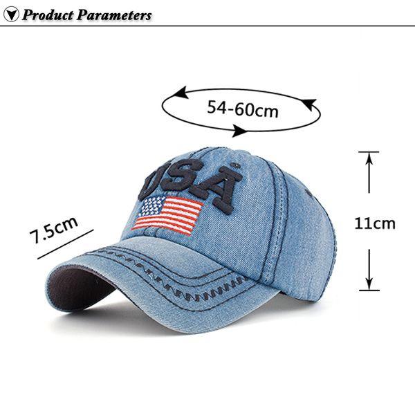 USA Flag Embroidery Baseball Hat