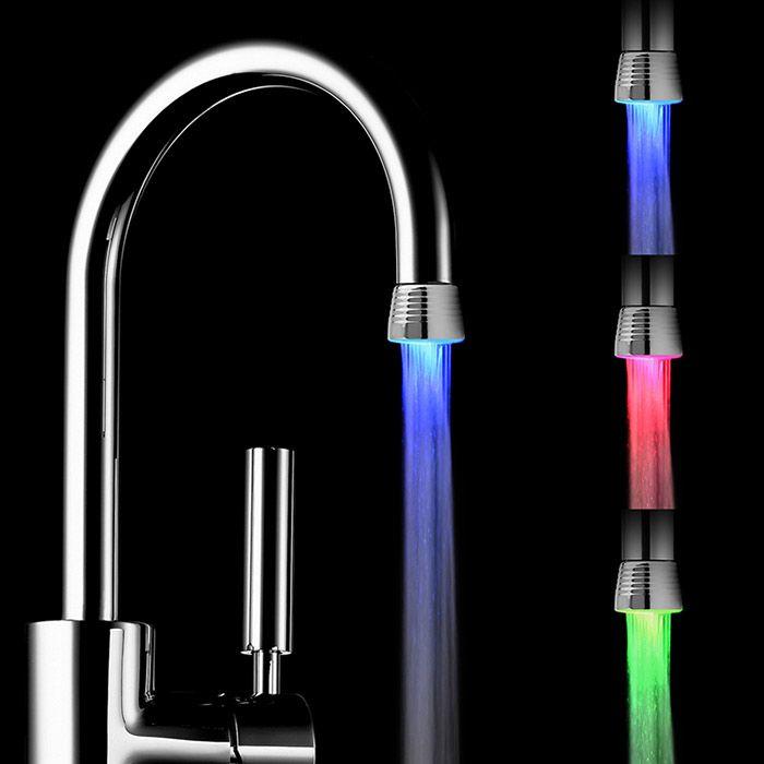 Colorful Water Stream LED Light Luminous Faucet