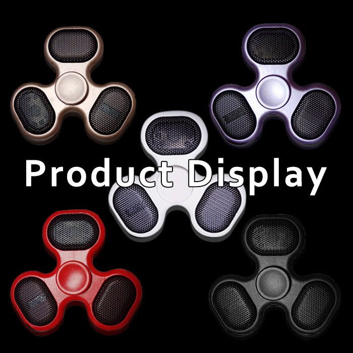LED Bluetooth Speaker Musical Triangle Hand Spinner